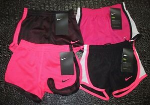 NEW 4 Toddler Girls Nike Dri-Fit Running Athletic Shorts Black Pink White 2T NWT