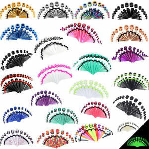 36Pcs LongBeauty Ear Gauge Taper Stretching Kit Ear Tunnel Plug 14G-00G Piercing $5.93