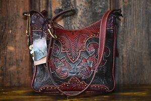 American West Genuine Leather Concealed Carry Shoulder bag purse BRAND NEW