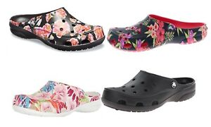 CROCS Freesail Clogs Graphic Tropical Floral Pink, Poppy, Black and more vegan