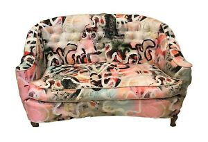 Original FRENCH 19th century 3 PIECE SET of upholstered love seat