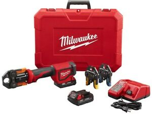 MILWAUKEE Press TOOL Kit 18-Volt Lithium-Ion Cordless 1-Handed Use Auto Cycle