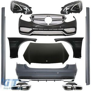 BodyKit For Mercedes E-Class W212 Facelift 13-16 AMG Design Headlights Bumper PD
