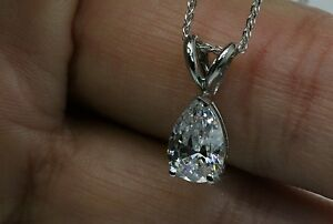 1Ct Solitaire Pendant Necklace And 18