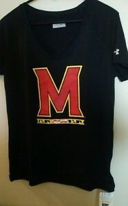 Under Armour Women's Shirt M Size Large Black Semi Fitted Cool & Dry Heat Gear