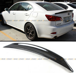 FOR 2006-13 LEXUS IS250 IS350 ISF JDM GLOSSY BLK DUCKBILL HIGHKICK TRUNK SPOILER