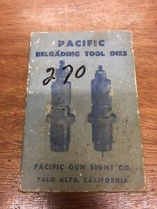 Vintage Pacific Gun Sight CO .270 Winchester Reloading 2 Die Set