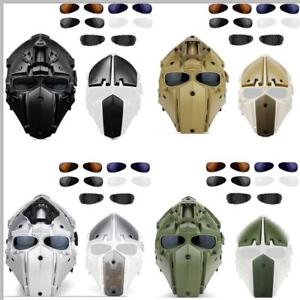 Full Face Protective Mask Goggle Helmet for Tactical Airsoft Hunting