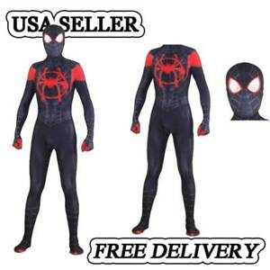 Spider-Man Into the Spider-Verse Miles Morales Cosplay Costume Spiderman