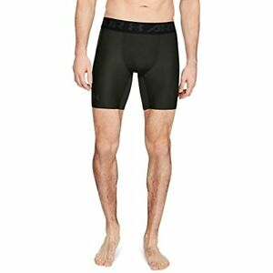 Under Armour Men's HeatGear Armour Mid Compression Shorts Artillery Green (357
