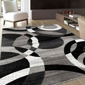 RUGSHOP CONTEMPORARY ABSTRACT MODERN CIRCLES SOFT AREA RUGS $94.99