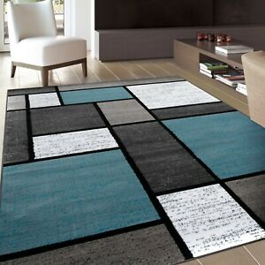 RUGSHOP CONTEMPORARY MODERN BOXES SOFT AREA RUGS $189.99