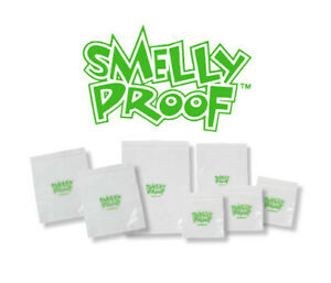 SmellyProof CLEAR Smell Proof Bags 7 Sizes / x5 or LOT of Sacks / FREE SHIP bear