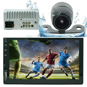 7 2 Din Touch Screen Car MP5 MP3 Player Bluetooth Stereo FM Radio USB AUX CAM $62.99