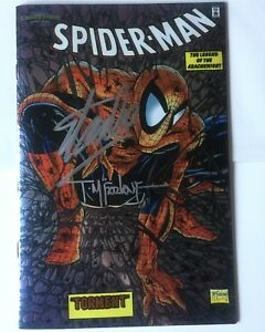 Marvel Collectable Classics #2 Spider-Man #1 Chromium Signed Stan Lee McFarlane