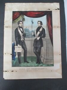 SONS OF TEMPERANCE Mid 19th Century Currier Lithograph $99.95