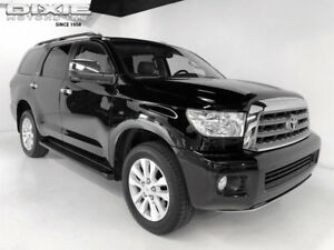 Toyota Sequoia TOYOTA SEQUOIA PLATINUM 4X4-1 OWNER LOCAL TRADE IN PLATINUM 4X4-NAVIGATION-SUNROOF-DVD-COOLED SEATS-BUCKETS-TOW-20S-1 OWNER