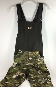 Womens Hunting Overalls Under Armour UA Stealth Bib Forest Camo Size
