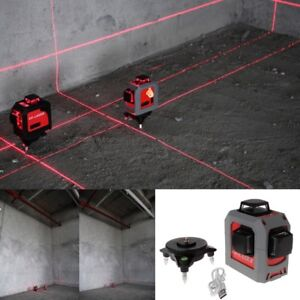 3D Laser Level 360 Degree 12 Line Self-Leveling Tool 65ft 20m for Construction