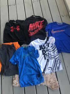 Boys Lot of 6 Pieces Under Armour Nike Size Youth Small YS Tops Shirts Shorts