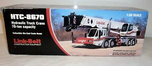 Collectible Die-Cast Link-Belt Construction Equipment HTC-8670 Hydraulic Truck C