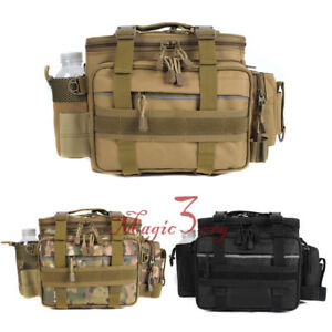 Large Fishing Tackle Bag Shoulder Pack Storage Box Waist Lure Carry Travel Bag