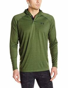 Under Armour Men's Tech Popover Hoodie Combat Green (994)Black