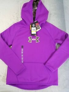 Under Armour Storm Girls Sweatshirt Fleece Hoodie Medium YMD Purple