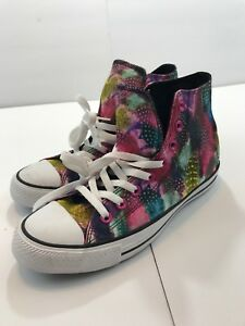 Converse 552980C Multi-Color Feathers All Star Women's Hi Top Sneakers Sz 9 NWOT