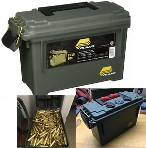 Ammo Crate Utility Box Military Multi Function Lockable Storage Army Plano