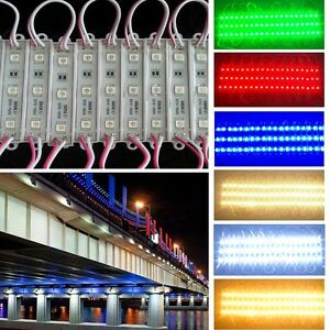 US 10~1000FT 5050 SMD 3 LED Module Store Front Window Sign Light Cabinet Lamp WQ