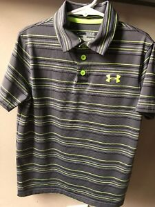 Boys Under Armour Heat Gear Polo Shirt Size Youth Small  Size 7 LOT 5 Shirts