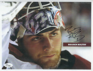 BRADEN HOLTBY 8 X 10 AUTOGRAPH PIC AUTO JSA CERTIFIED MINT OR BETTER $125.00