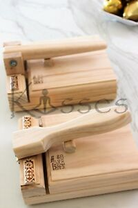 New Mexican Manual Tortilla Press Maker Pine Wood Corn Flour Gorditas Bunuelos