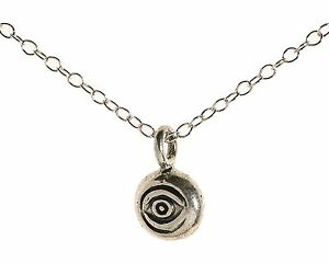 925 Sterling Silver Evil Eye Pendant Necklace LUCK Charm Necklace
