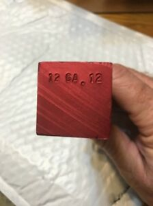 ONE Charge or Shot Bar for MEC Shotshell Press As Pictured Marked 12 GA. 12