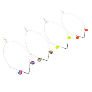4pcs lot Lure Perch Fishing Rig 2 Wire Double Up Spinners Bait Rigs