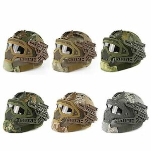 Tactical Helmet Mask Full Face Outdoor Hunting Protective Military Protection
