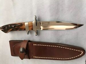 """R.W. LOVELESS """"Maker"""" Baby Bear Sub-Hilt Fighter Knife-Stag-extremely Rare!"""