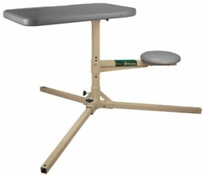Caldwell Stable Table with 360 Degree Rotation and Weatherproof Synthetic Top