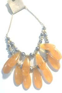 ANTHROPOLOGIE GOLDEN HOUR BIB NECKLACE -- NEW WITH TAG