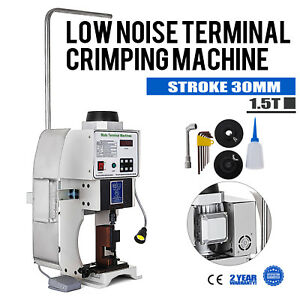 110V Automatic Wire Crimping Machine 1.5T Low Noise Terminal Crimping Machine