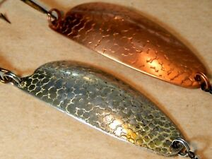 2-lot 50's Vintage ABU Record Sweden Tommy 18g6.5cm S & K spoon lures-used