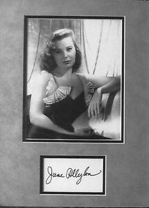 JUNE ALLYSON Autographed Matted Display