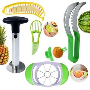 Fruit Slicer Peeler Set of 6 Slicer Pineapple Corer ect. Kitchen Fruit Tools Set