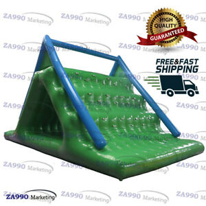 16x10ft Inflatable Big Triangle Floating Climbing Water Slide Sea Adults