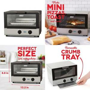 Dash Compact Toaster Oven Cooker for Bread Bagels Cookies Pizza Paninis...