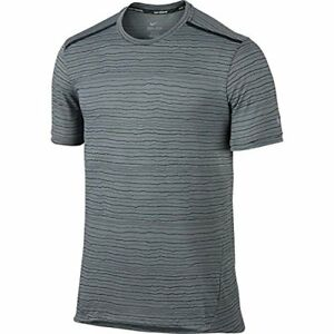 Nike Mens Dri-Fit Cool Tailwind Running Shirt 872018 Cool GreyReflective Silv