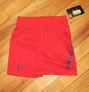Under Armour Baby Boy Red Black Shorts 12M 18M NWT
