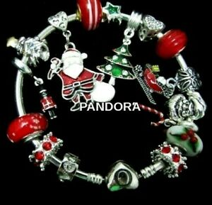 PANDORA CHRISTMAS BRACELET Wife Mom Girl CHARMS TREE SANTA BIRTHDAY GIFT BOX